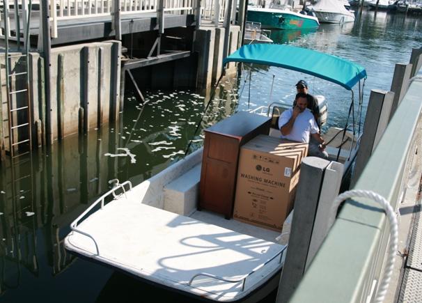Boat enters lock