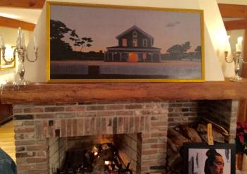 Painting fireplace web
